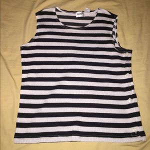 Tops - Striped Muscle Shirt👚